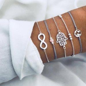 Boho multi layer bracelets- 5 inc.